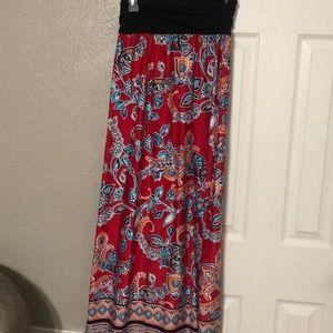 Apt 9 woman's print maxi skirt